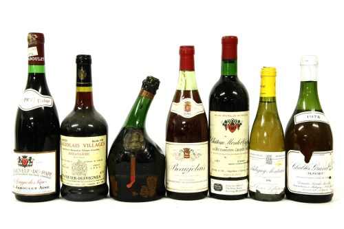 Lot 325-Assorted French wines and others