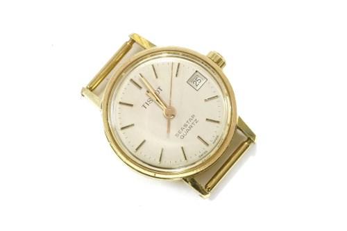 Lot 16-A ladies gold plated Tissot Seastar quartz watch