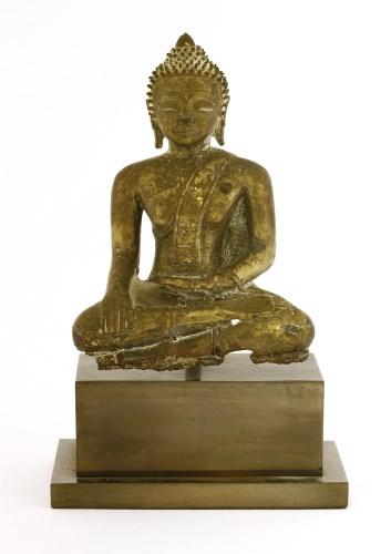 Lot 1002-A bronze Buddha