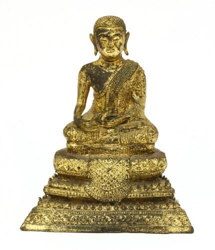 Lot 1003-A Burmese gilt bronze Buddha