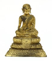 Lot 1003-A Burmese gilt bronze Buddha