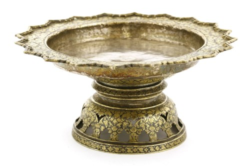 Lot 1020-A Thai silver niello gilt plate
