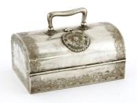 Lot 1007-A Thai silver casket