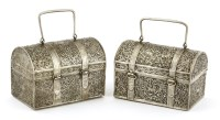 Lot 1008-Two Thai silver caskets
