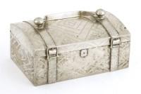 Lot 1009-A Thai silver casket