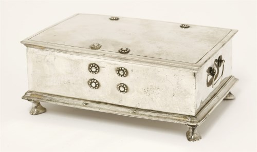 Lot 1010-A Thai silver box and hinged cover