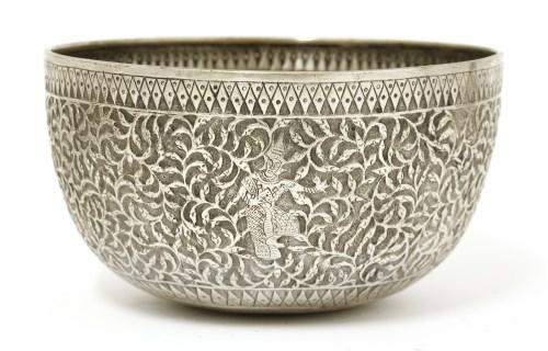 Lot 1012-A Thai silver bowl