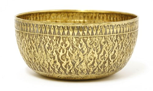 Lot 1013-A silver gilt bowl
