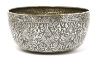Lot 1015-A Thai silver niello bowl