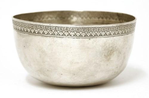 Lot 1016-A Thai silver bowl