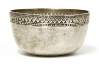 Lot 1017-A Thai silver bowl