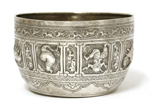 Lot 1018-A Thai silver bowl