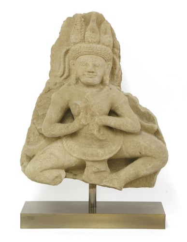 Lot 1023-A Khmer sandstone carving of a dancing Apsara