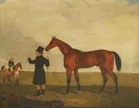 Lot 21-Lambert Marshall (1810-1870) COLONEL J PEEL'S 'ARCHIBALD' WITH TRAINER AND JOCKEY