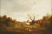 Lot 16-Philip Rideout (1850-1920) A PAIR OF HUNTING SCENES Signed and dated 1891