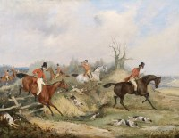 Lot 8-Henry Alken Snr (1785-1851) THE KILL; ON THE SCENT The first signed l.l.