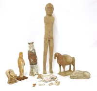 Lot 1029-A collection of pottery tomb figures