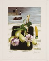 Lot 34-*After Mary Fedden (1915-2012) WHITBY HARBOUR Giclée print in colours