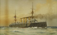 Lot 732-William Frederick Mitchell (1845-1914) IRONSIDE SHIPS A pair