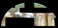 28 - A William De Morgan arched tiled wall panel
