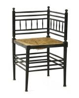 Lot 7-An Aesthetic ebonised corner chair
