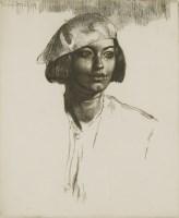 Lot 705-*Gerald Leslie Brockhurst RA (1890-1978) 'CHIQUITA' Etching