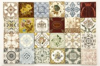 Lot 655-A quantity of various Victorian pottery tiles