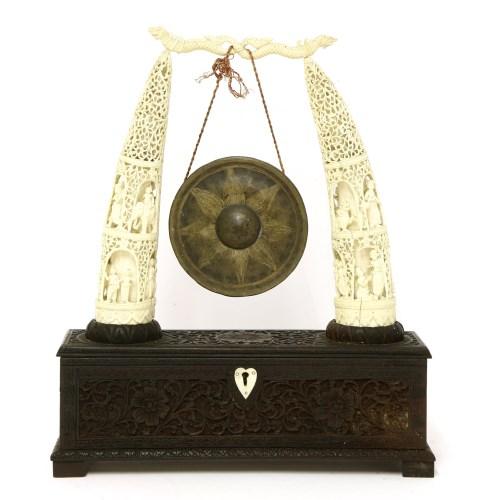 Lot 1001-A Burmese gong stand
