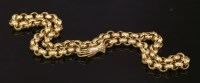 Lot 12-A Regency gilt metal belcher chain with a hand clasp