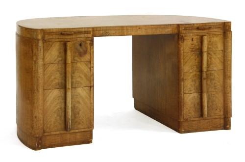 Lot 188-An Heal's Art Deco walnut desk