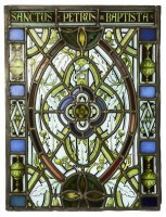 Lot 10-A stained glass panel
