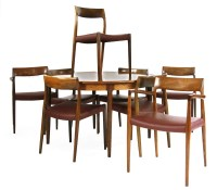 335 - A Danish rosewood dining suite