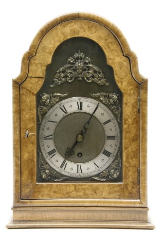 Lot 636-A 20th century walnut mantle clock