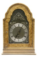 Lot 636-A 20th century walnut mantle clock
