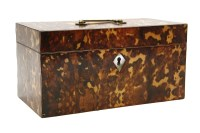 Lot 629-A faux tortoiseshell tea caddy