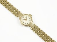 Lot 14-A ladies 9ct gold Nivada bracelet watch
