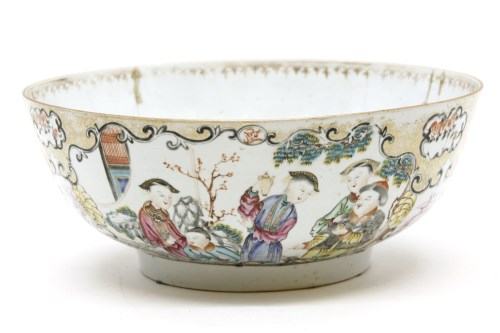 Lot 630-A late 19th century Chinese Canton enamelled bowl