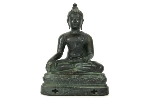 Lot 633-A seated resin Buddha