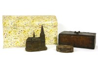 Lot 663-A large dome topped stationery casket