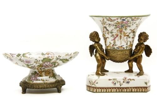 Lot 635-A reproduction porcelain and gilt metal jardinière