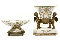 Lot 635-A reproduction porcelain and gilt metal jardinière