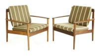 474 - Two rosewood 'Model 56' easy chairs