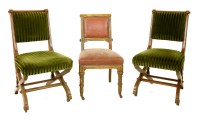 Lot 2-A pair of walnut side chairs