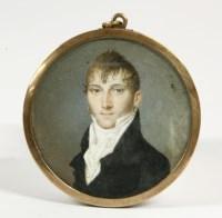 Lot 44-A circular miniature of a gentleman