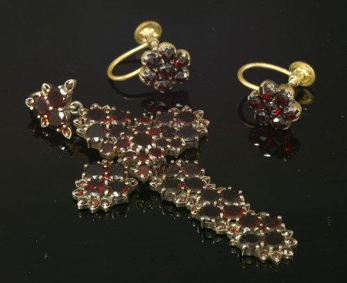 Lot 44-A Victorian bohemian garnet cross