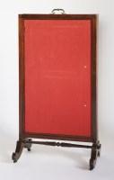 Lot 130 - A Victorian mahogany fire screen