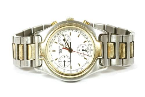Lot 12-A gentlemen's bi-colour stainless steel Certina quartz DS bracelet watch