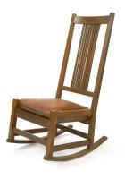 Lot 13-An oak rocking chair