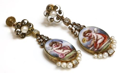 Lot 41-A pair of Victorian pearl