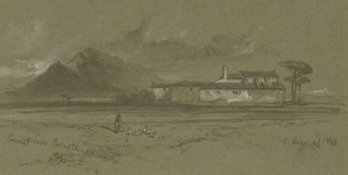 Lot 717-Edward Lear (1812-1888) CONVENT NEAR SORACTE